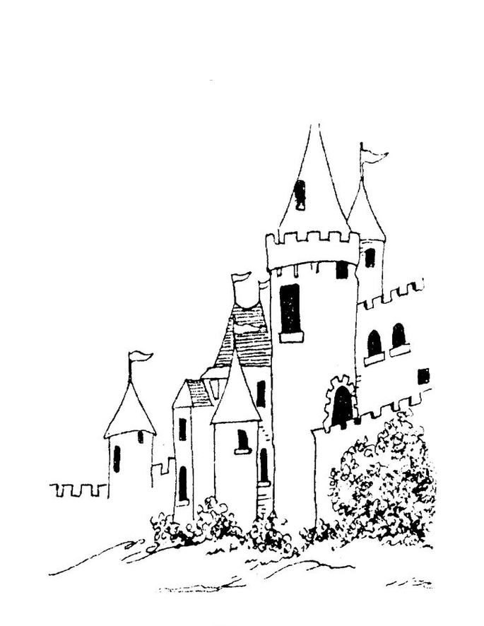 Desenho De Castelo Bonito Para Colorir Tudodesenhos