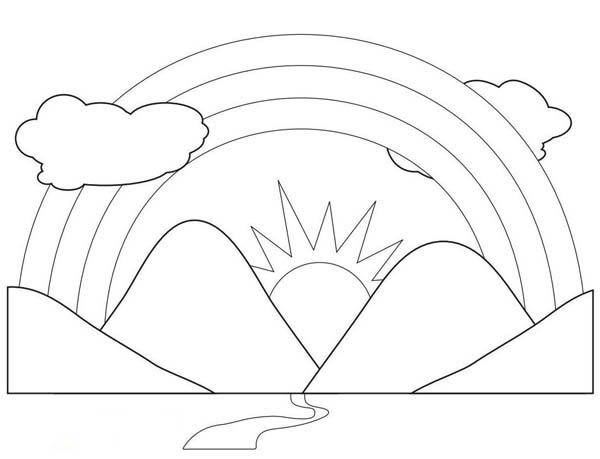kids coloring pages scenery painting - photo#31