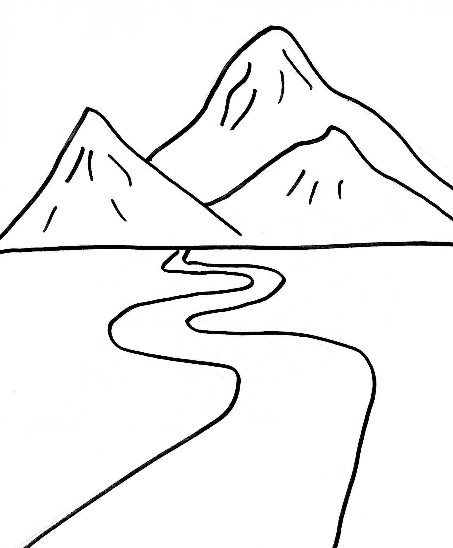 Unico Desenhos De Paisagens Para Imprimir E Colorir Melhores