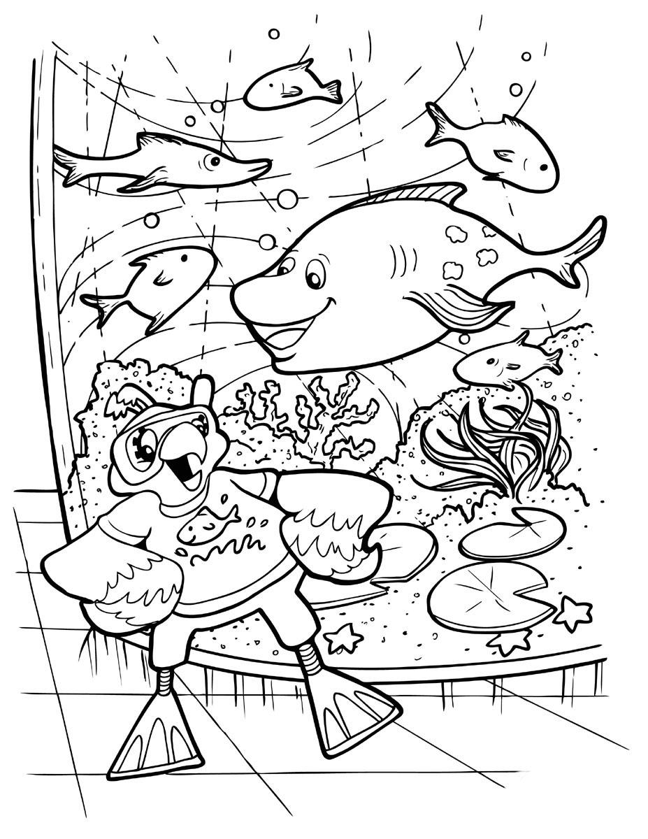 Desenho De Aquario Gigante Para Colorir Tudodesenhos