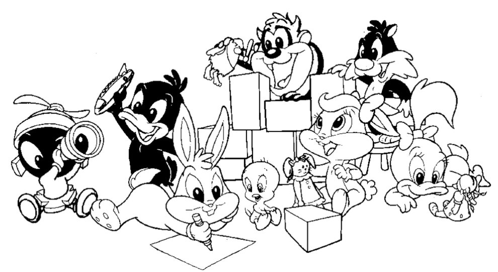 Looney Toons Coloring Pages - Castrophotos