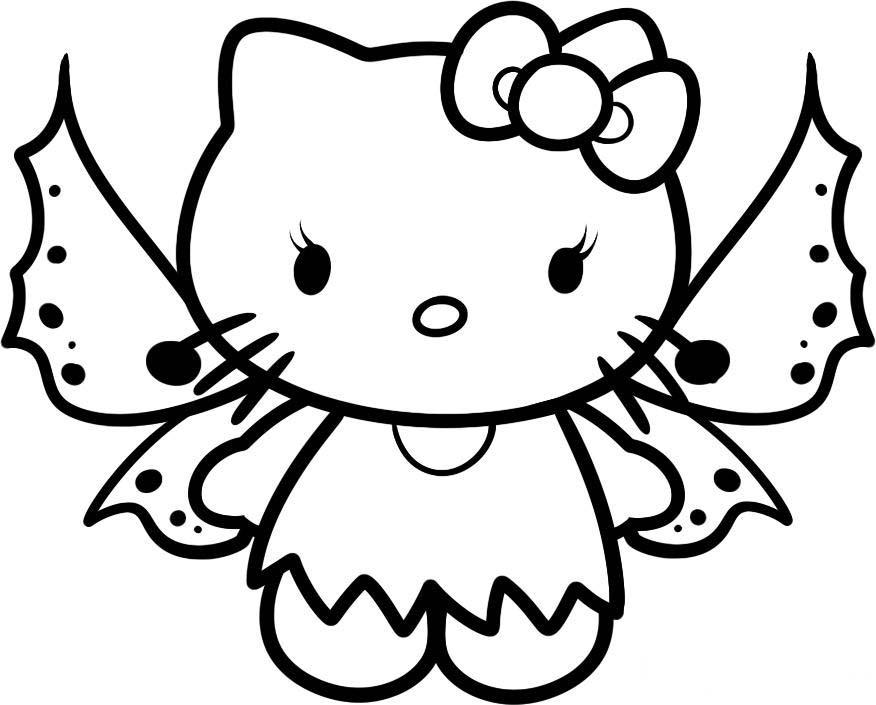 Desenho De Hello Kitty Borboleta Para Colorir Tudodesenhos
