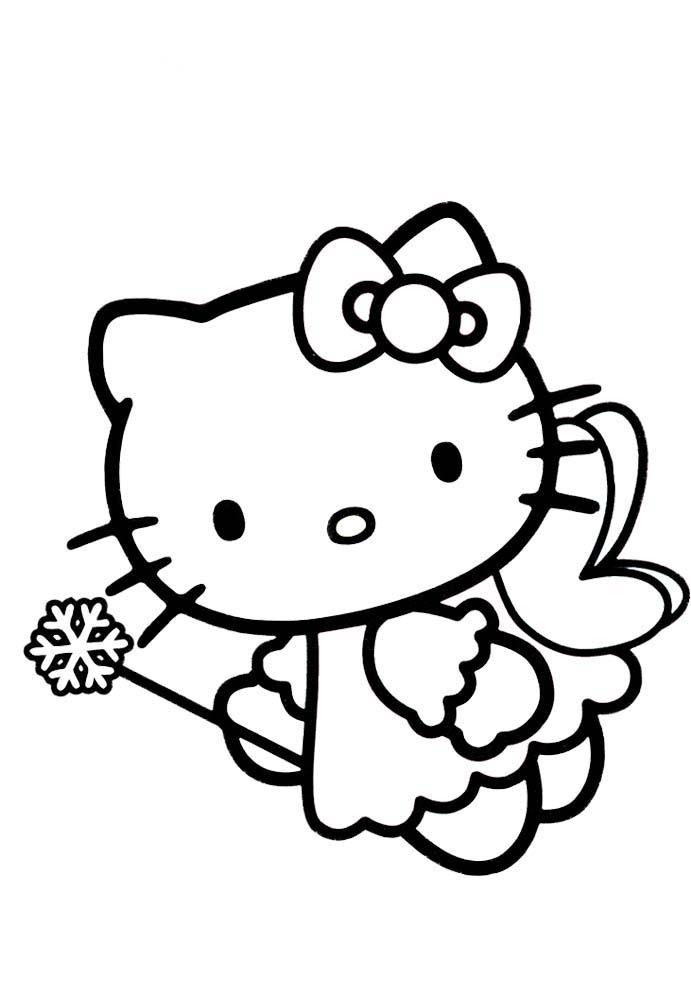 Desenho De Hello Kitty Fada Borboleta Para Colorir