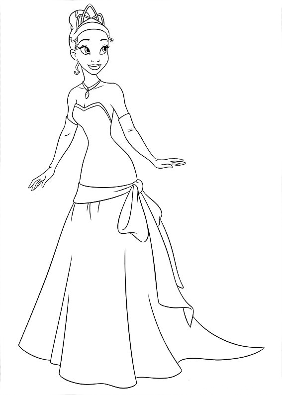 Desenho de Princesa Tiana para colorir - Tudodesenhos