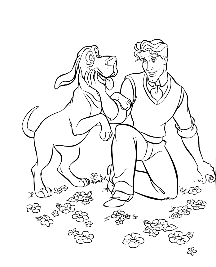 desenho de príncipe de tiana para colorir tudodesenhos