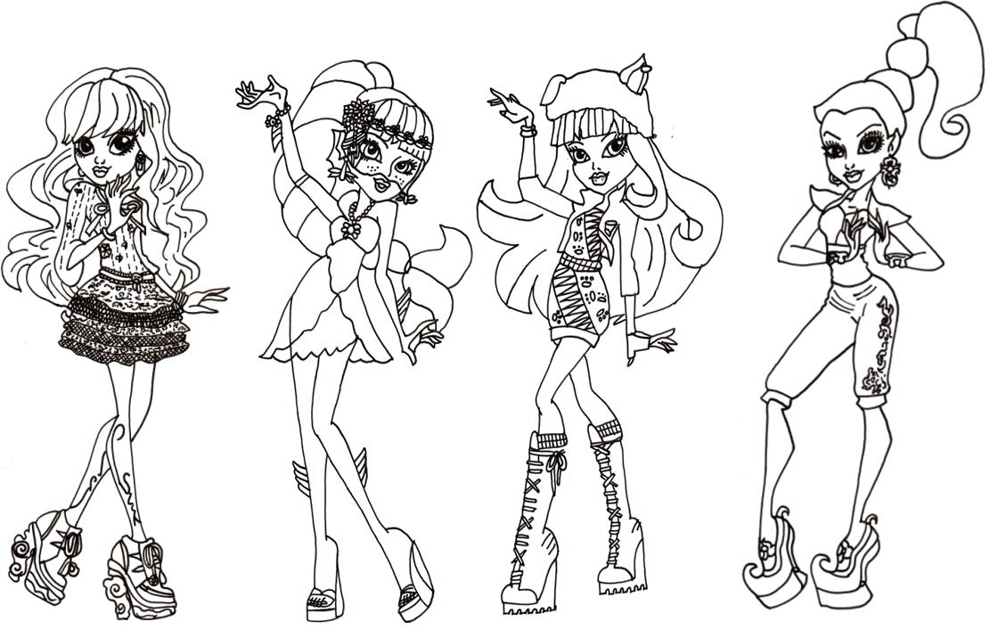 Desenho De Alunas Da Escola Monster High Para Colorir