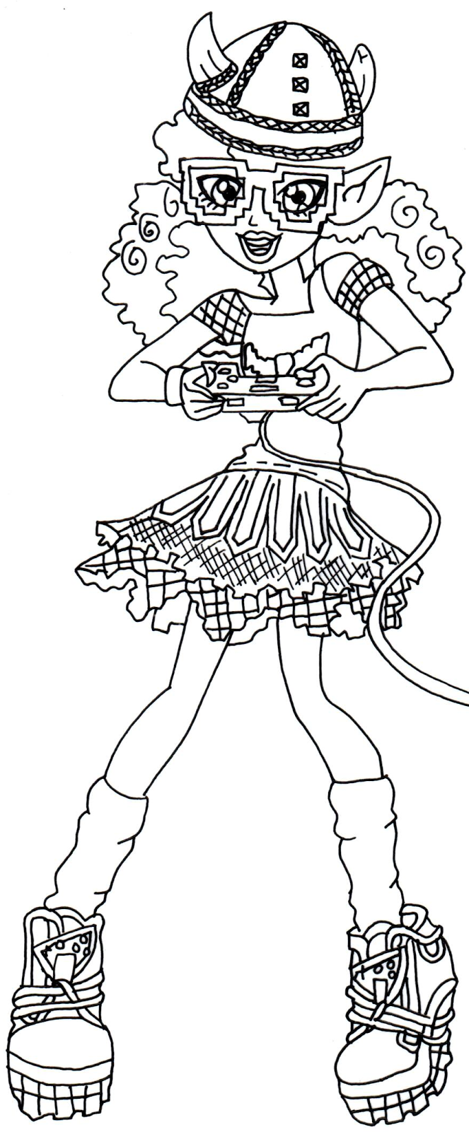 Best Draculaura Coloring Pages Pictures Inspiration - Entry Level ...