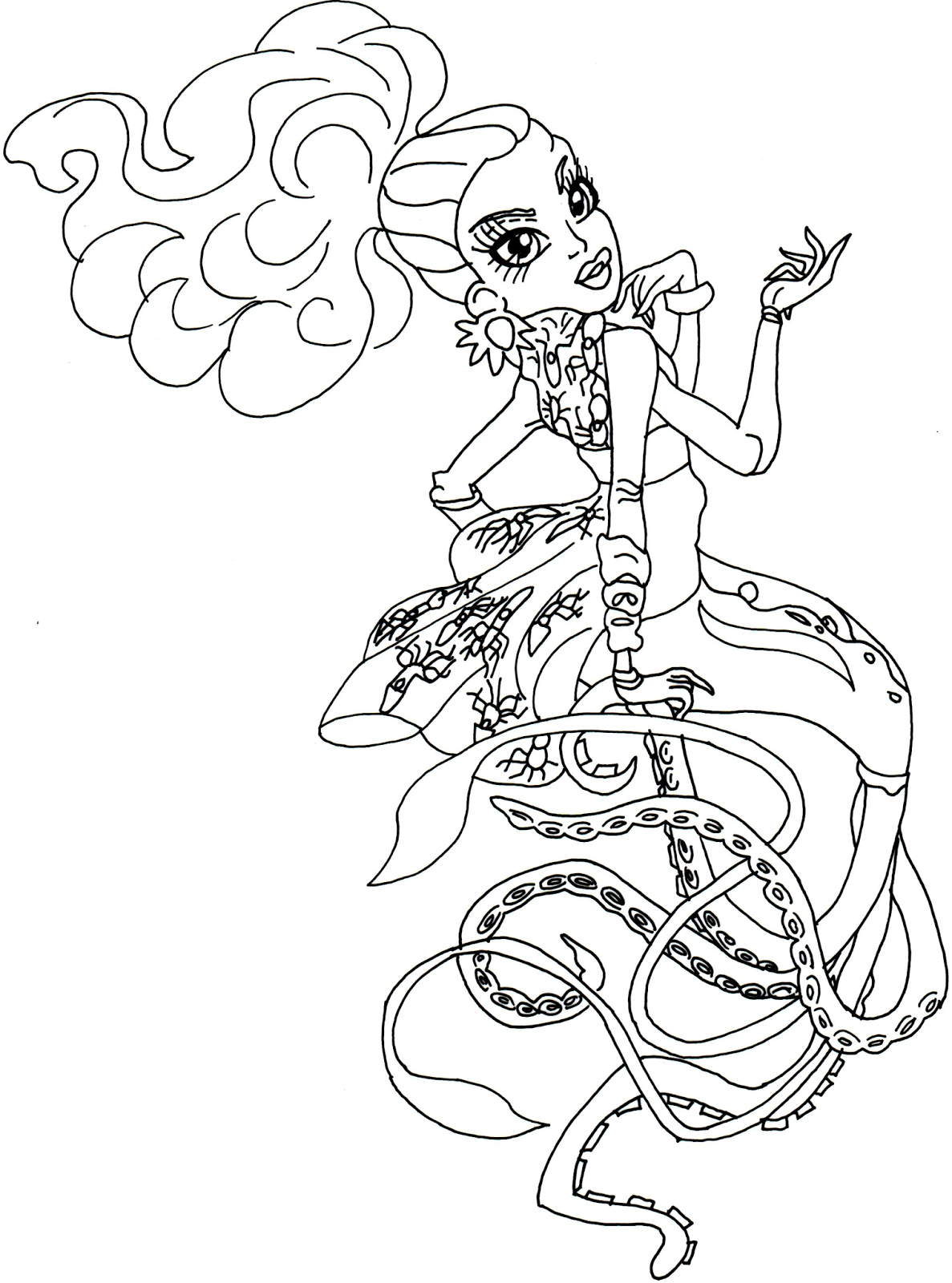 Monster High Coloring Pages Baby Clawdeen