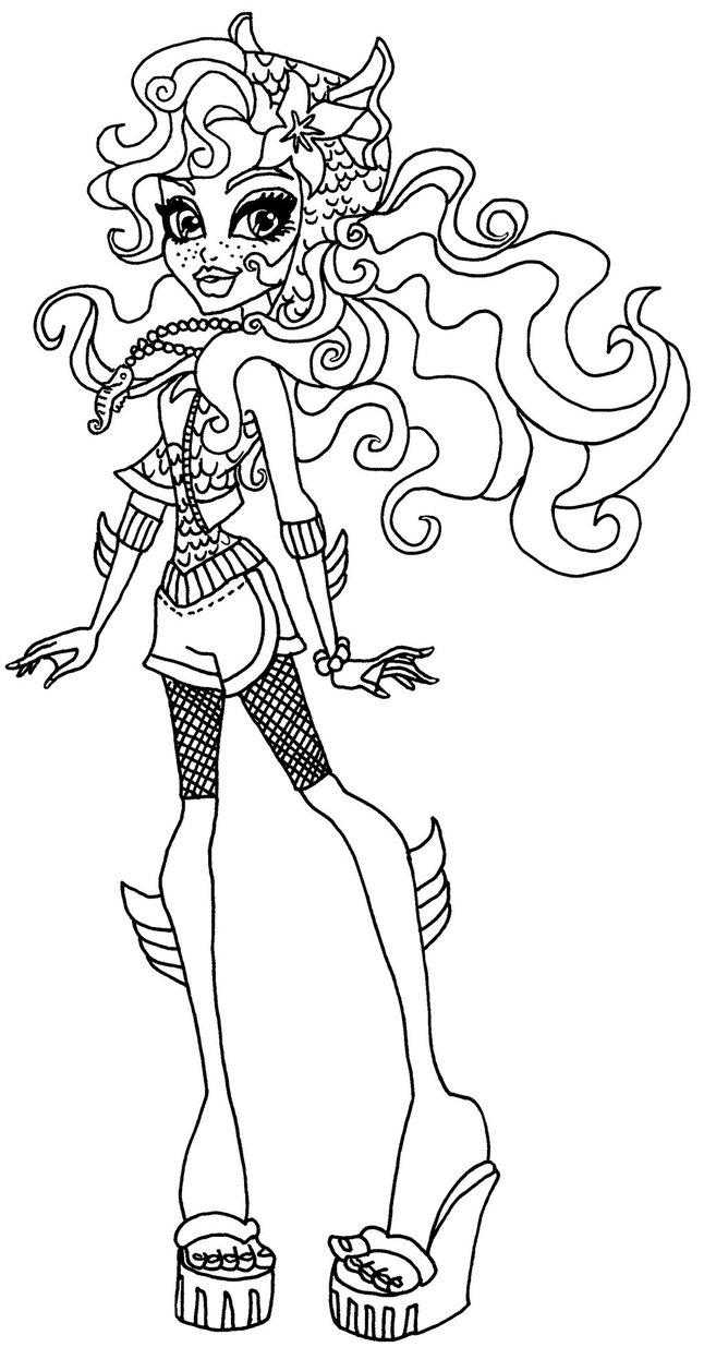 Desenho De Lagoona Blue Monster High Para Colorir Tudodesenhos