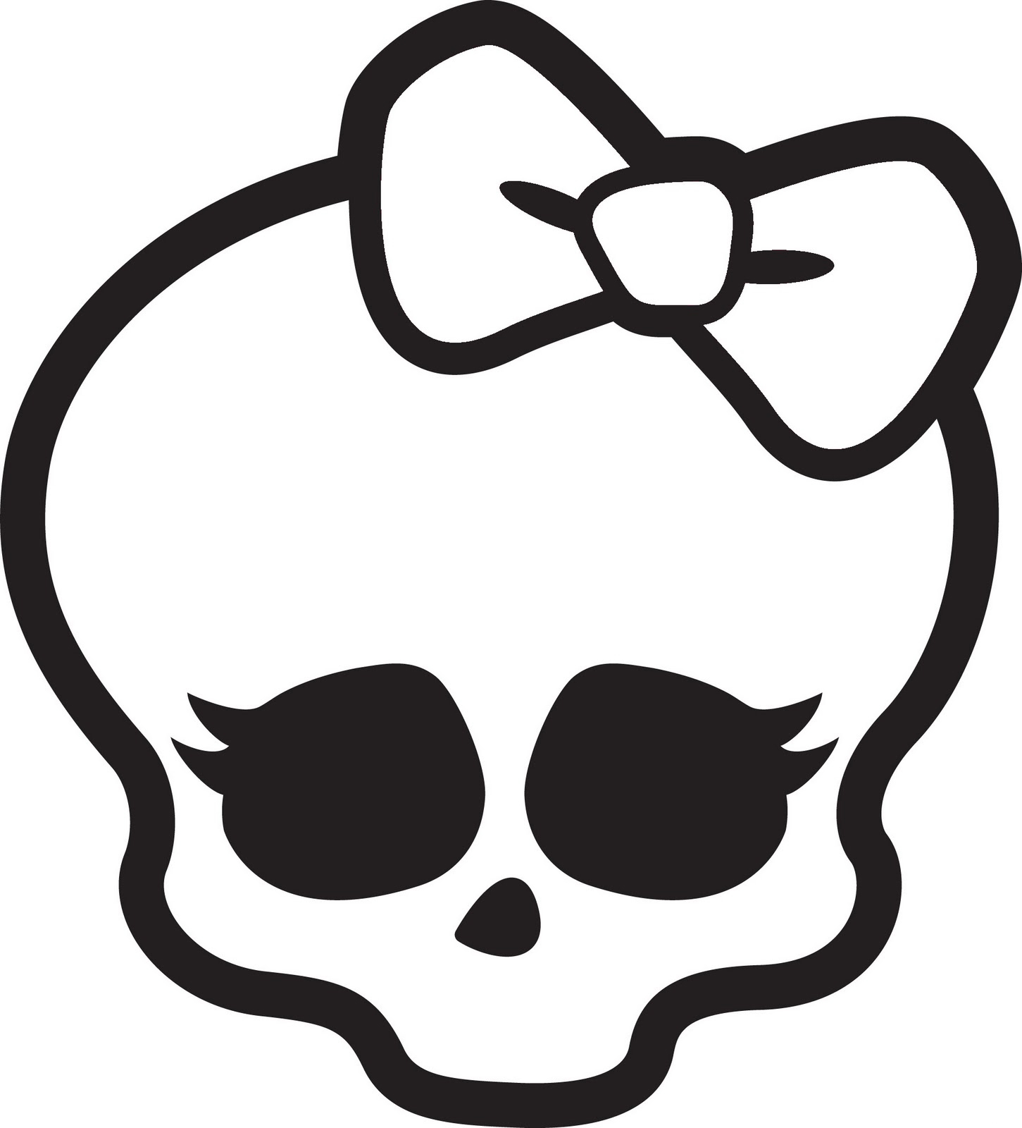 coloring pages monster high skull - photo#4