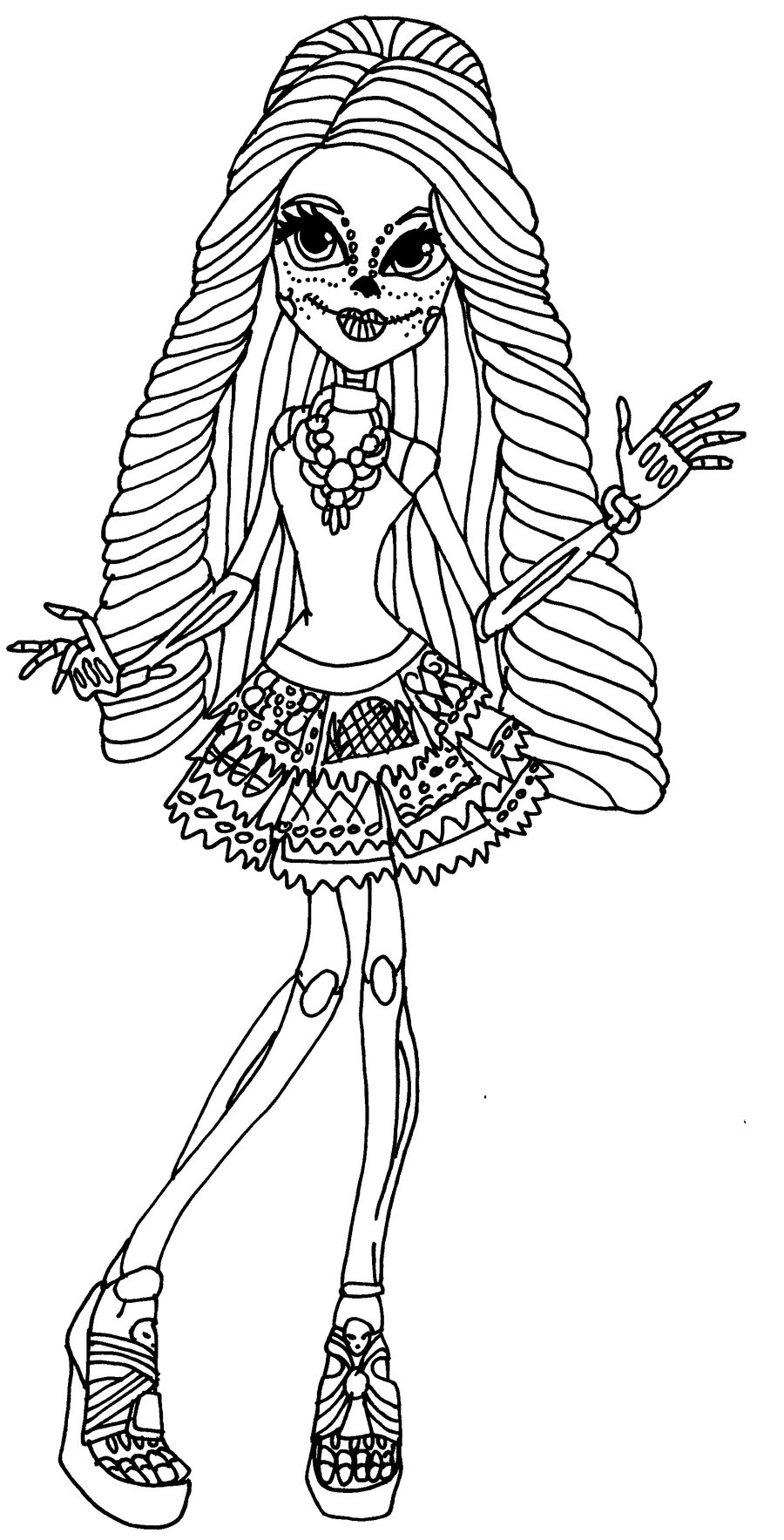 Desenho de Skelita Calaveras Monster
