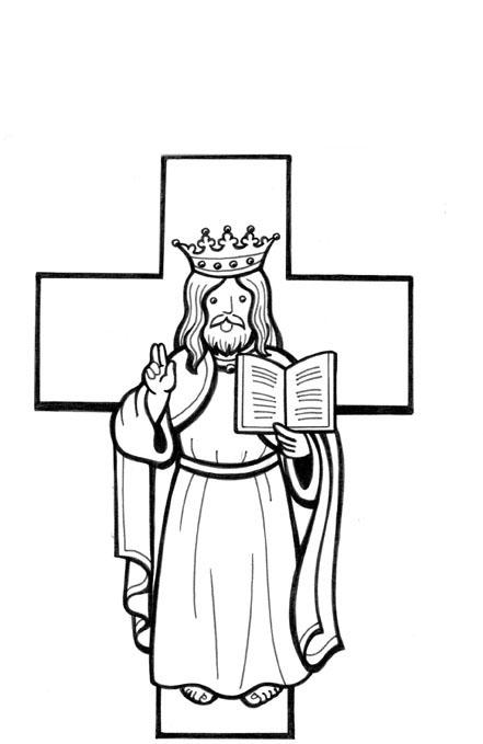 Desenho De Cristo Rei Para Colorir Tudodesenhos