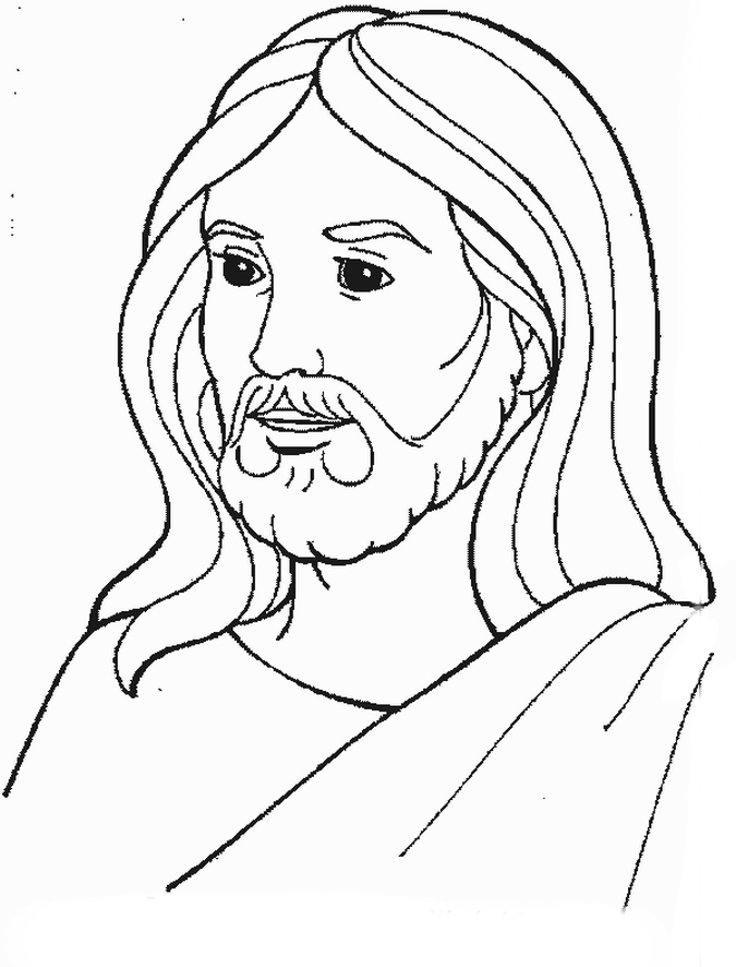 Fabuloso Desenho de Face de Jesus ressuscitado para colorir - Tudodesenhos AR12