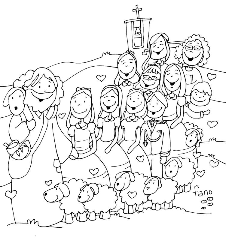 desenho de face de jesus para crianças para colorir tudodesenhos