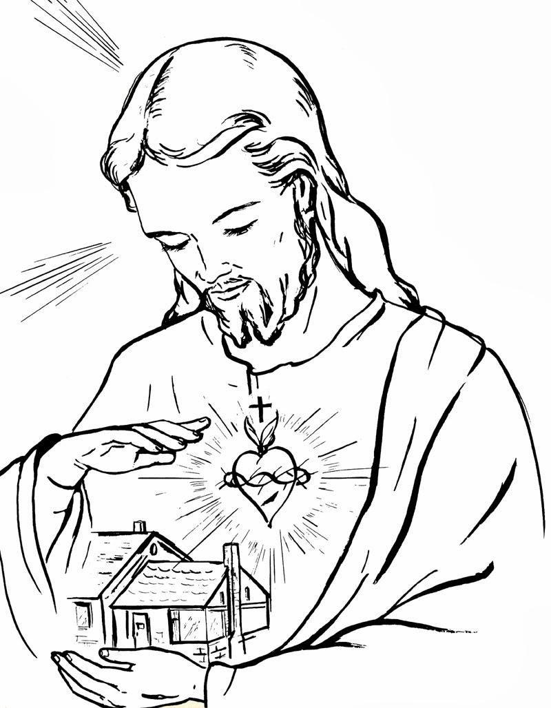 Desenho De Jesus Cristo Para Colorir Tudodesenhos