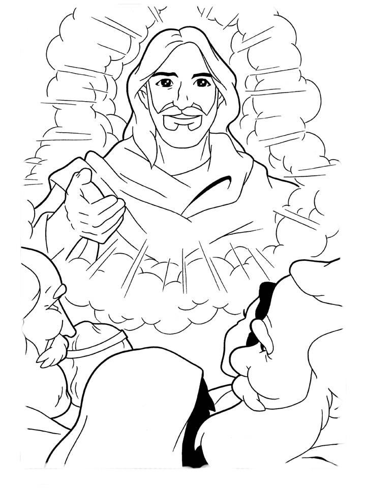 desenho de jesus ressuscitado para colorir tudodesenhos