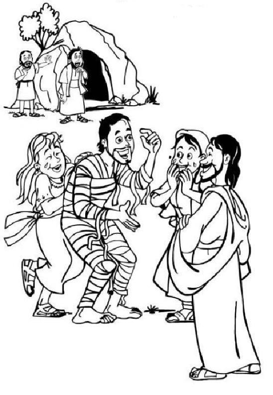 desenho de jesus ressuscitando lázaro para colorir tudodesenhos