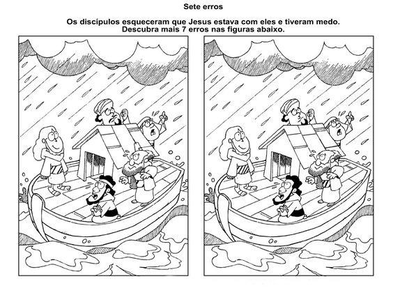 Desenho de Jogo dos 7 erros Jesus