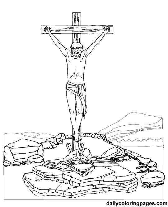 Desenho De Morte De Jesus Para Colorir