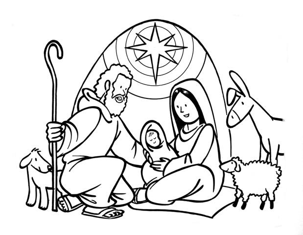 Desenho Nascimento Jesus Para Colorir Tudodesenhos