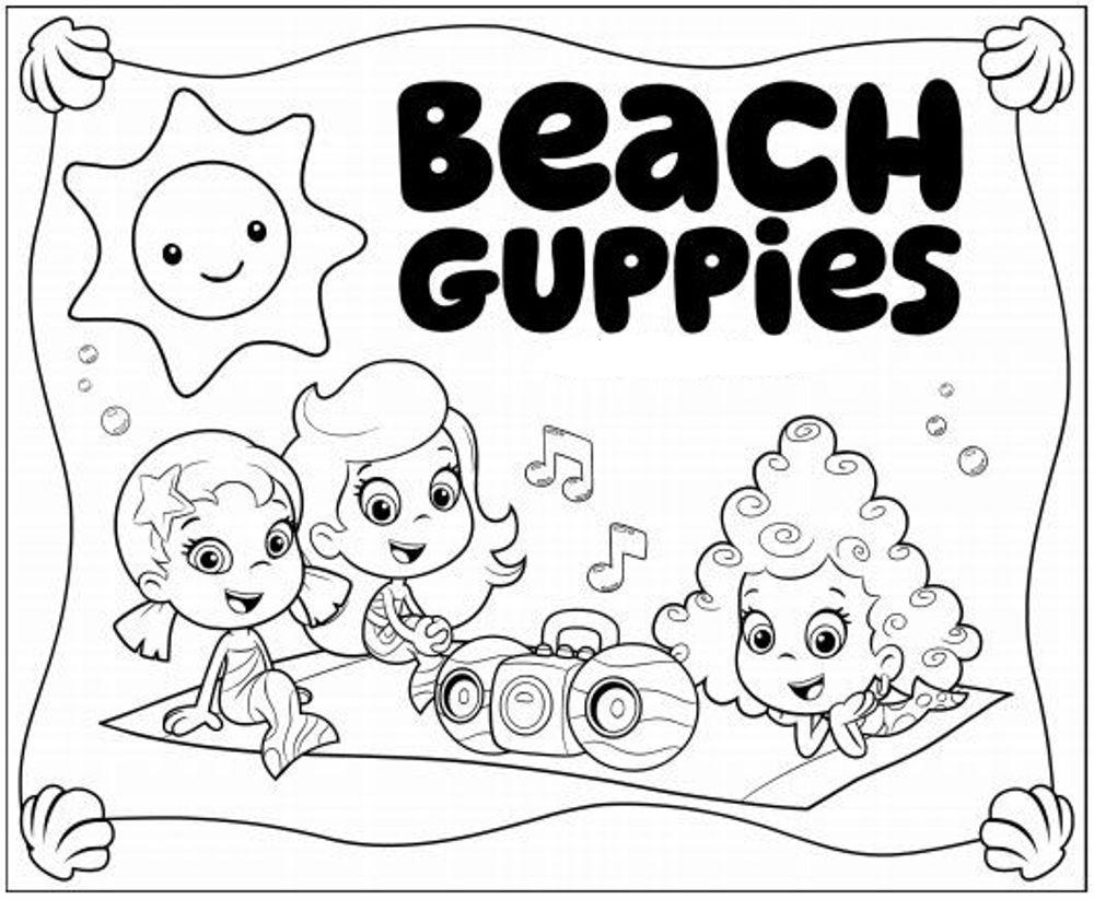 Meninas de bubble guppies no piquenique