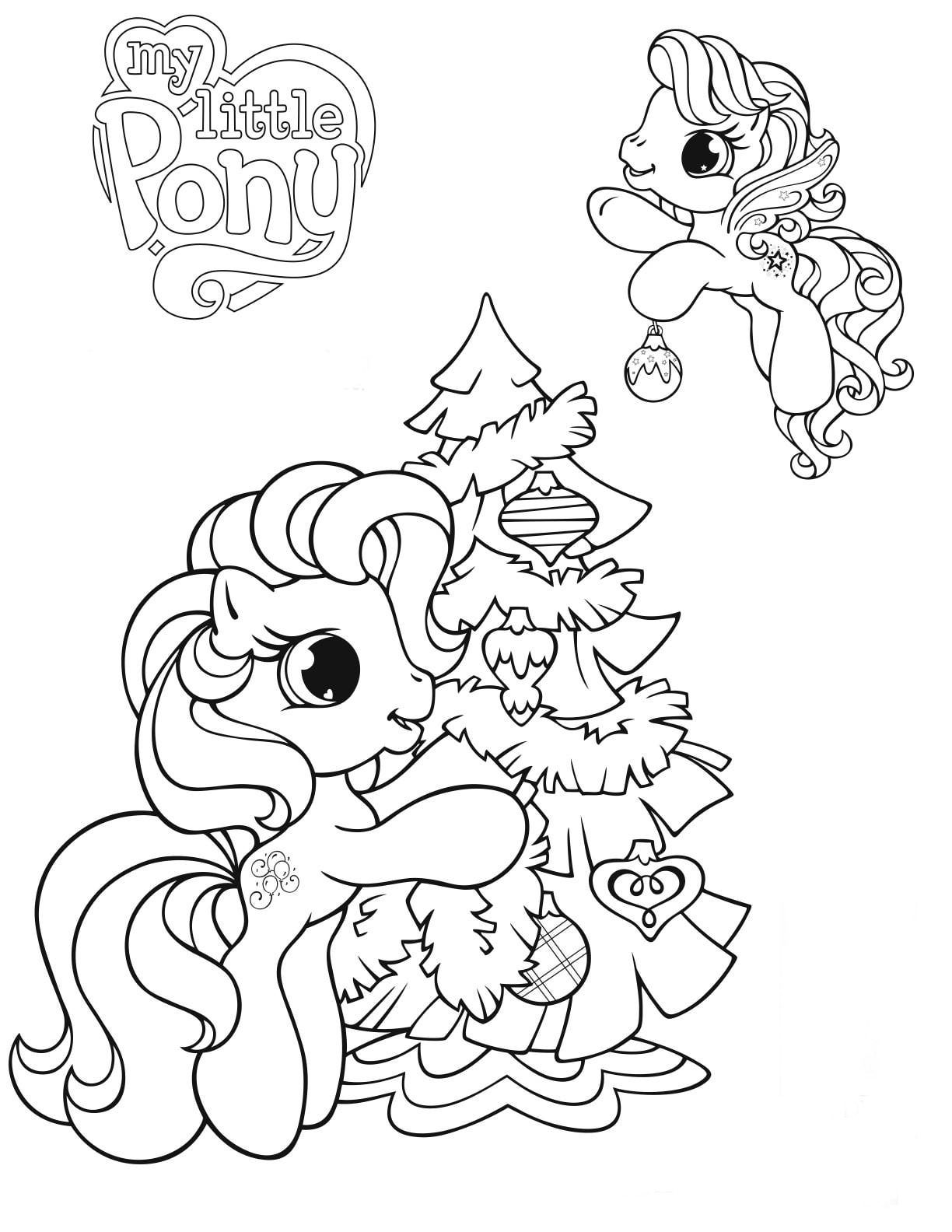 My little pony e arvore de natal