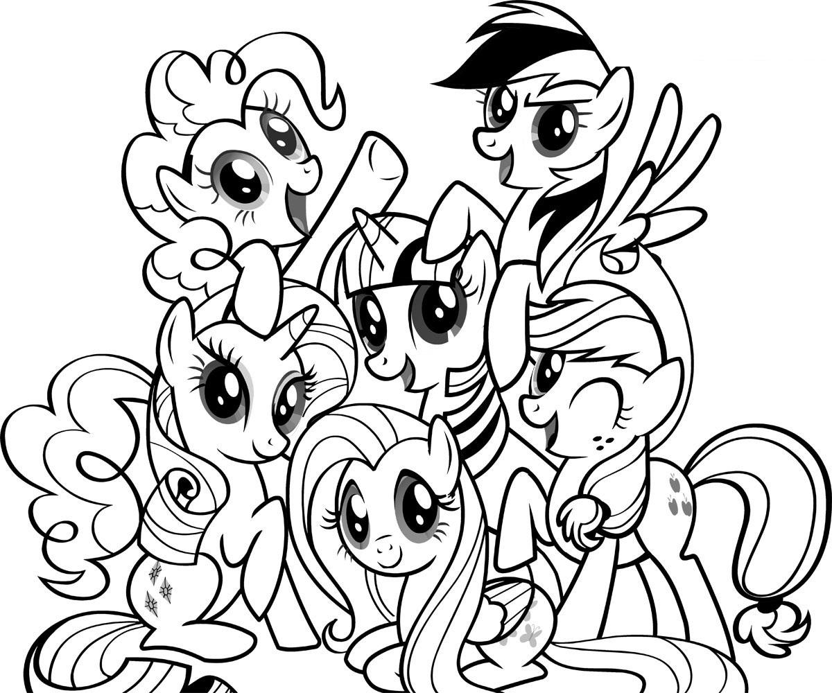 Desenho De Personagens De My Little Pony Para Colorir