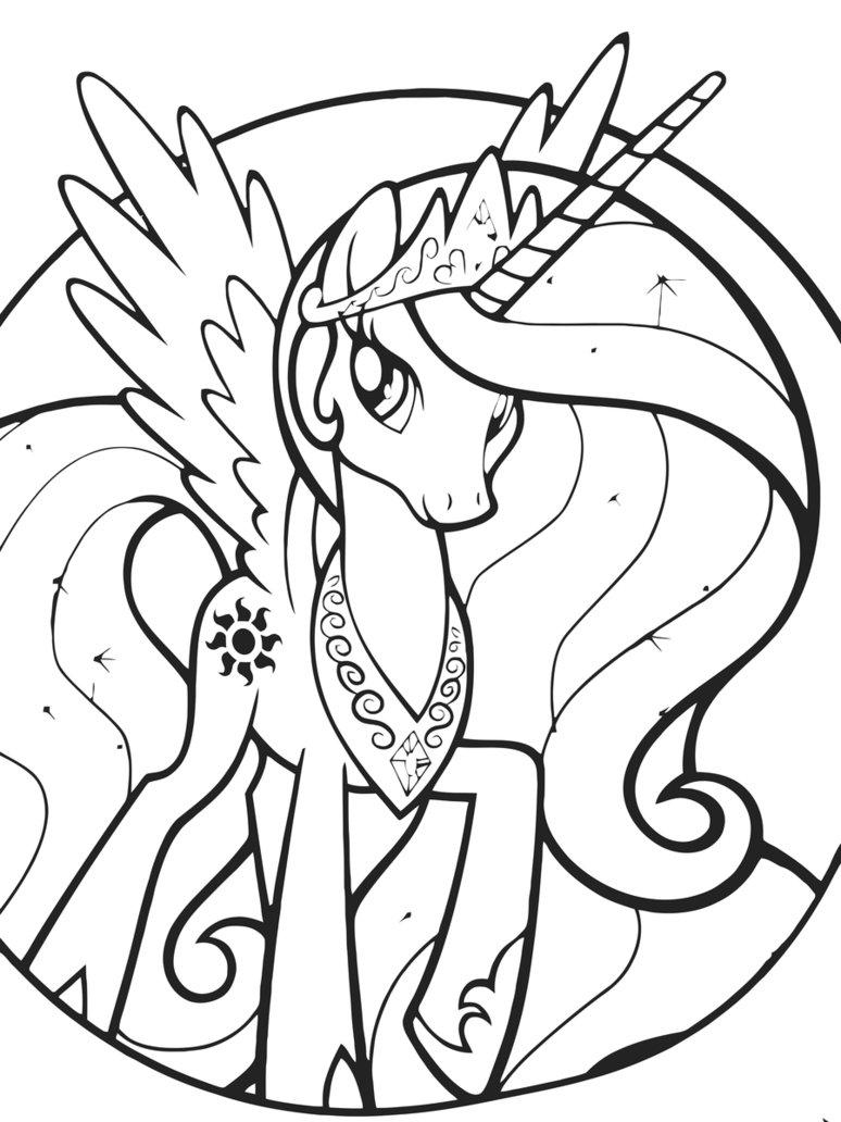 Desenho de princesa celestia para colorir tudodesenhos - Coloriage princesse celestia ...