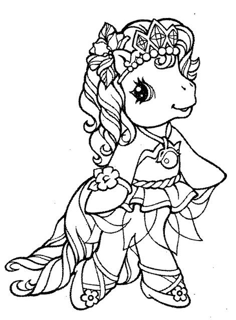 Desenho De Princesa Luna De My Little Pony Para Colorir