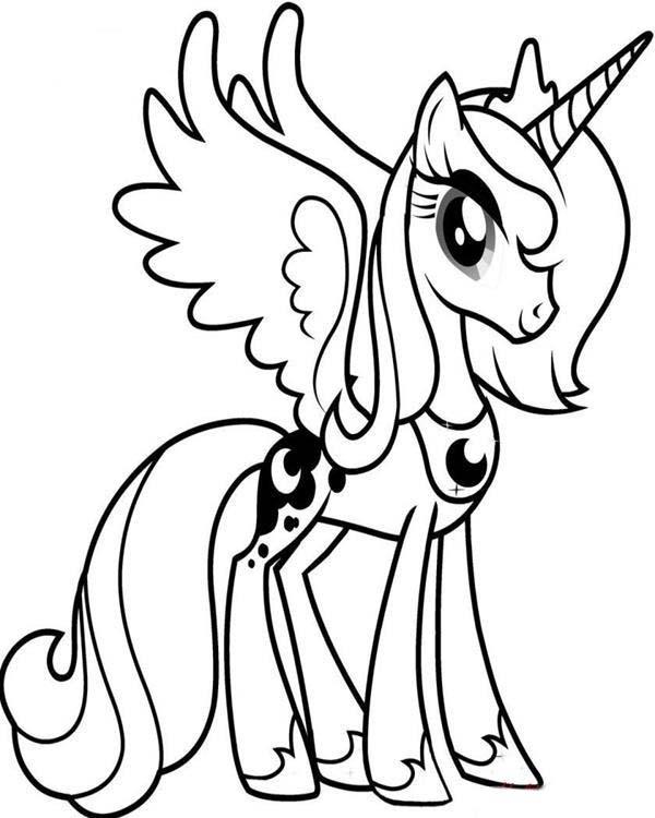 Desenho De Princesa Luna My Little Pony Para Colorir Tudodesenhos