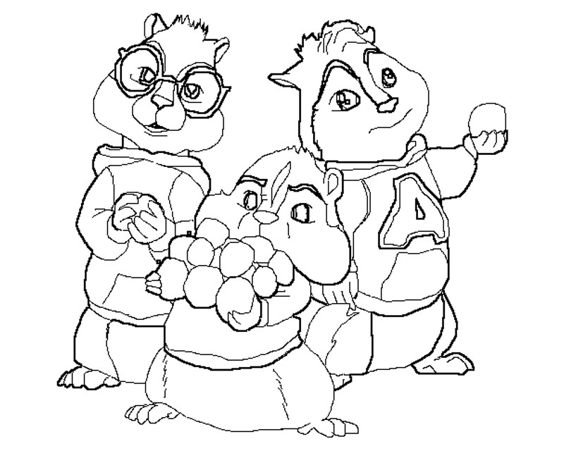 Coloring Pages Of Alvin And The Chipmunks And The Chipettes ~ best ...