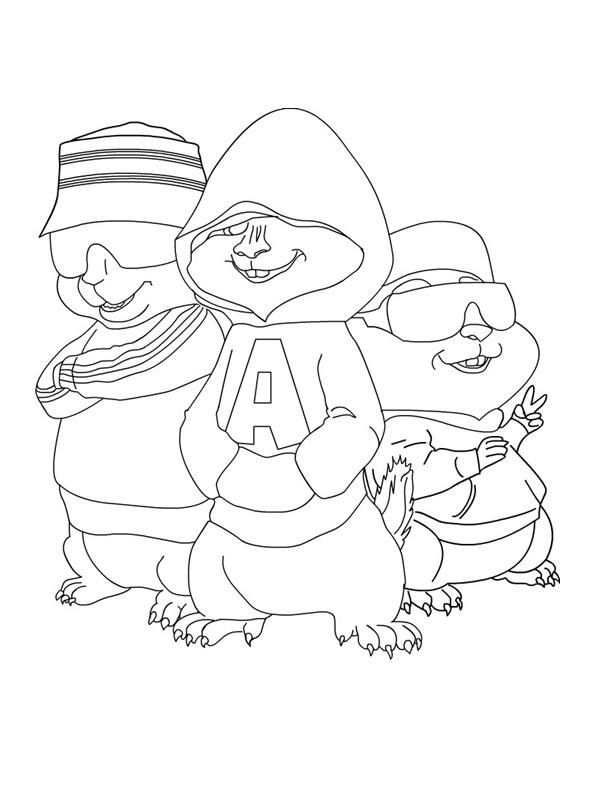 Desenho De Alvin E Os Amigos Esquilos Para Colorir Tudodesenhos