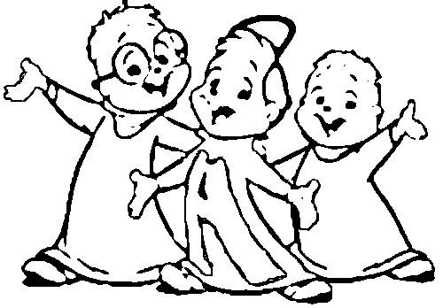 Desenho De Meninos Do Alvin E Os Esquilos Para Colorir