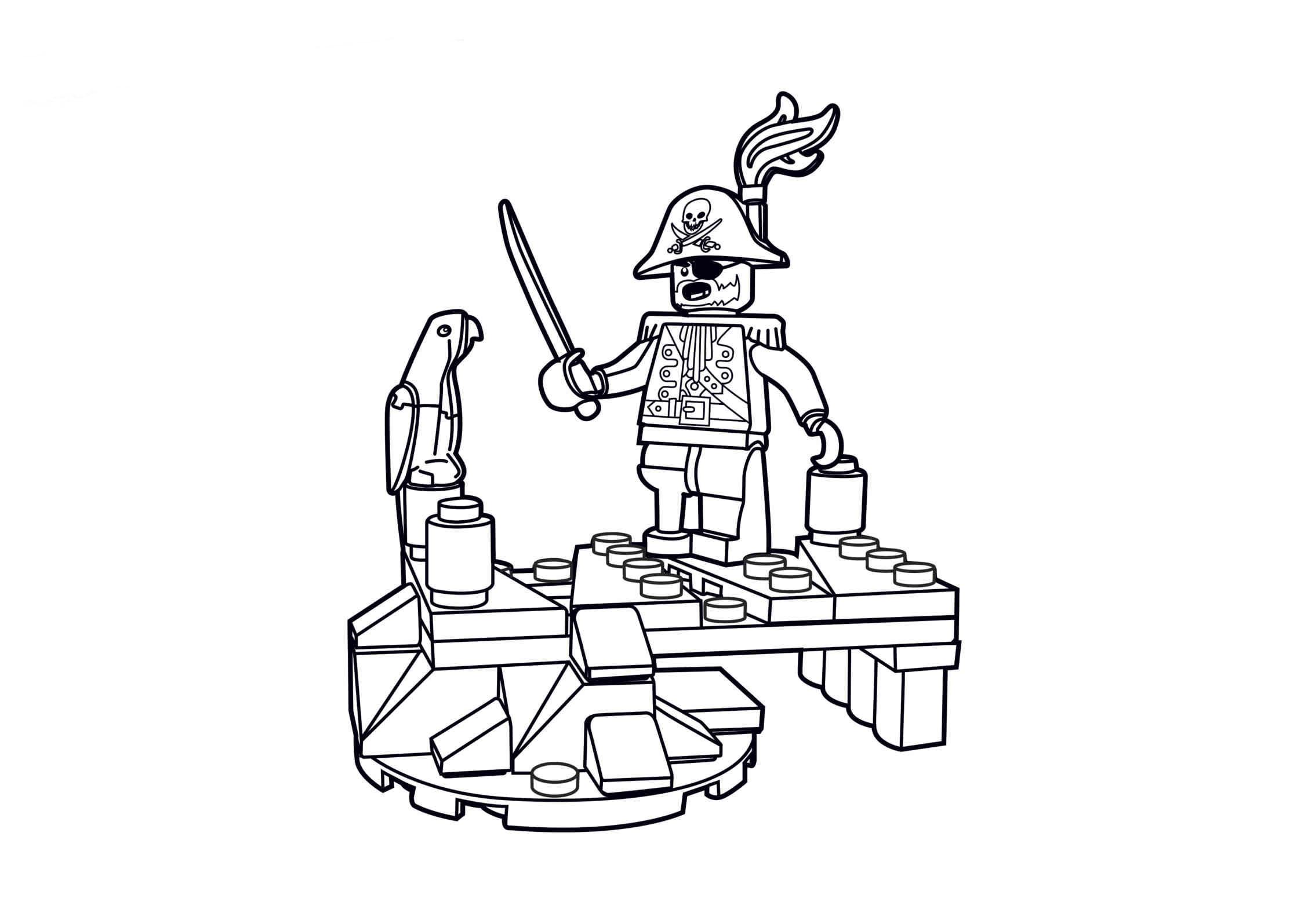 Desenho De Pirata Lego Para Colorir
