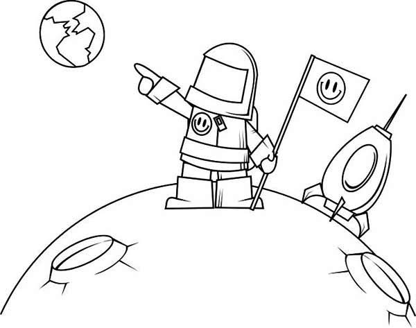 Desenho de astronauta na lua para colorir tudodesenhos for Disegno terra da colorare