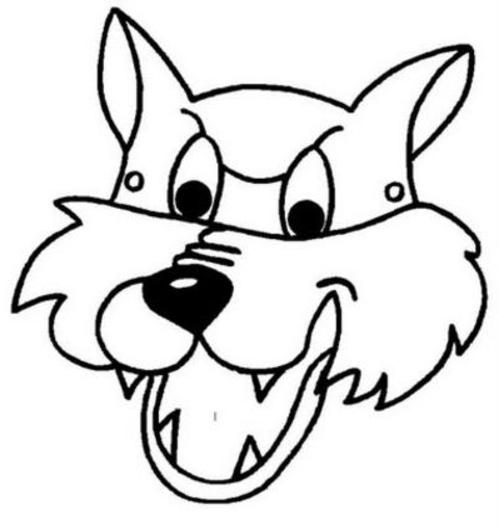 Desenho De Lobo Mau Para Colorir Tudodesenhos