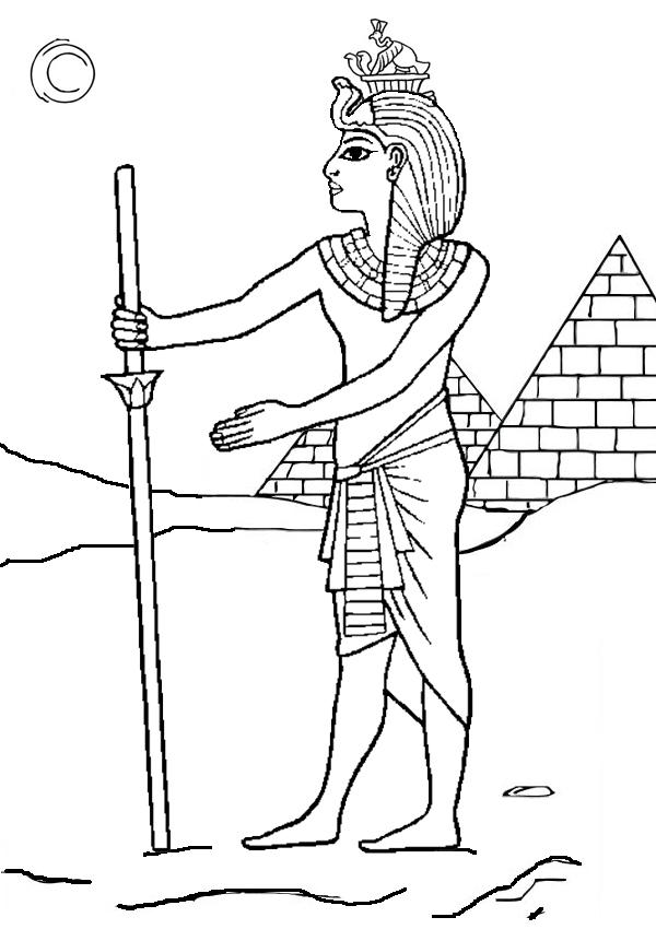Desenho De Farao E As Piramides Do Egito Para Colorir Tudodesenhos