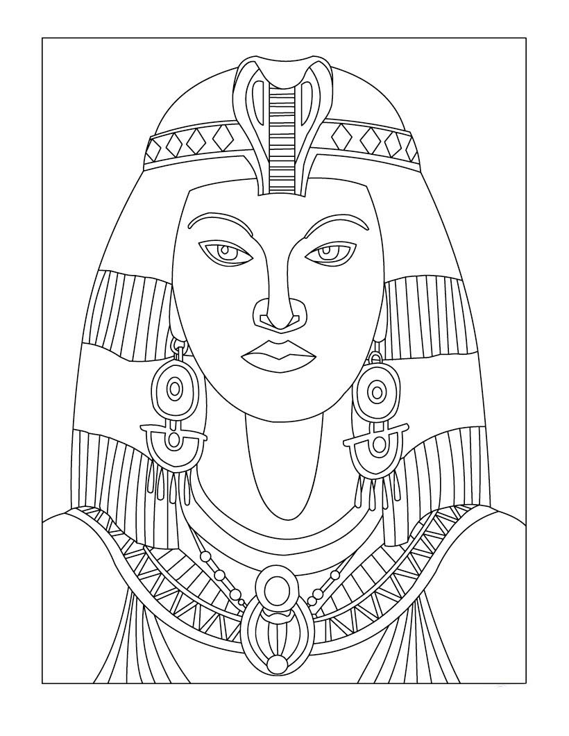 egyptian women coloring pages - photo#7