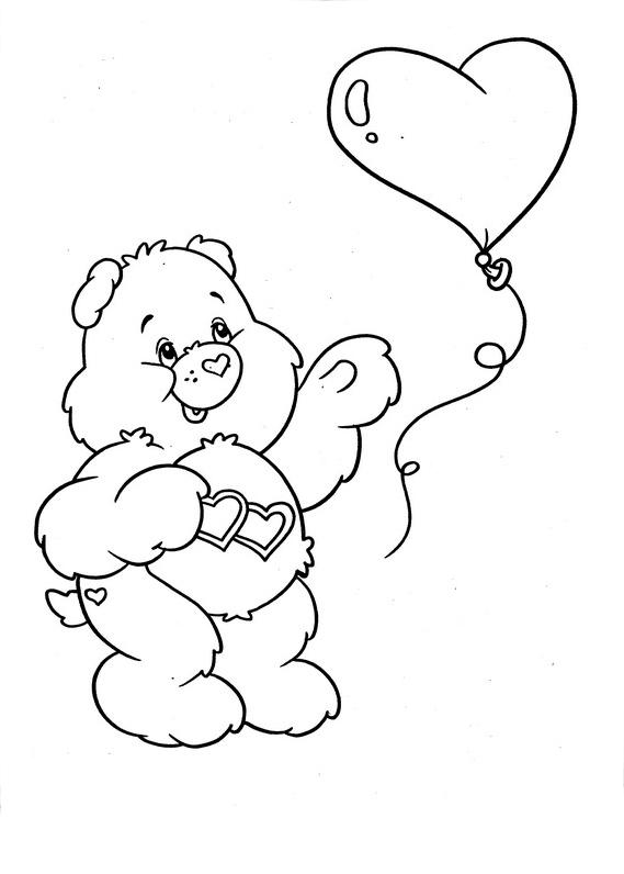 Desenho de Ursinho Amor-sem-fim brincando com bola de