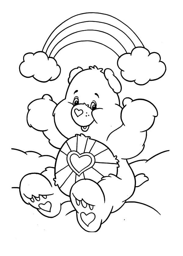 Desenho De Ursinho Carinhoso Sorrindo Com Arco 237 Ris Para To Draw Coloring Pages