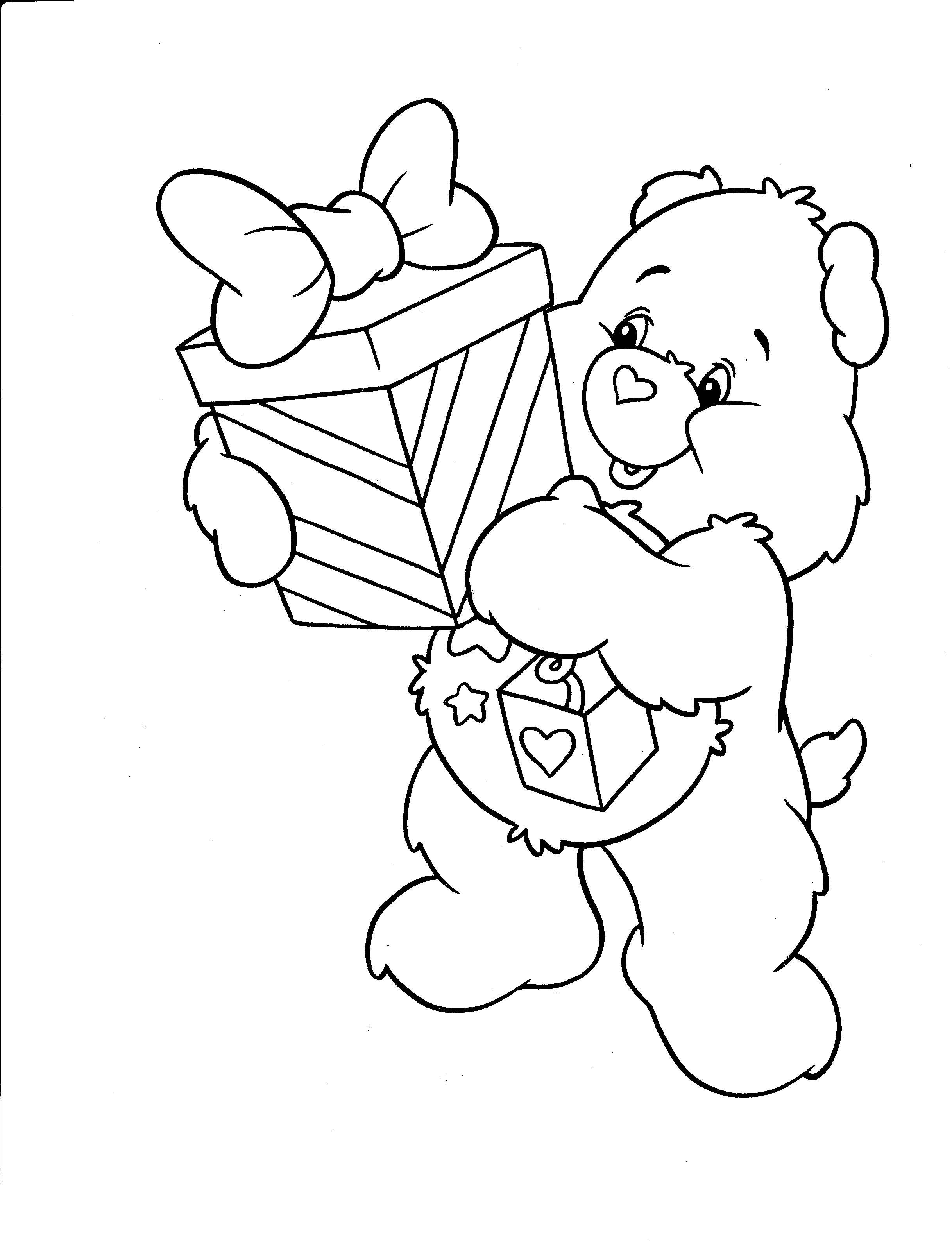 Desenho de Ursinho Carinhoso ganhando