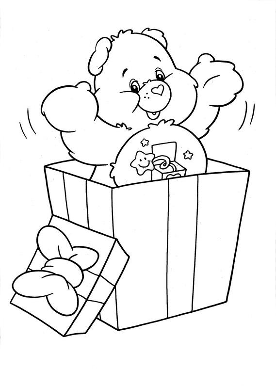 Desenho De Ursinho Desejo Na Caixa De Presentes Para