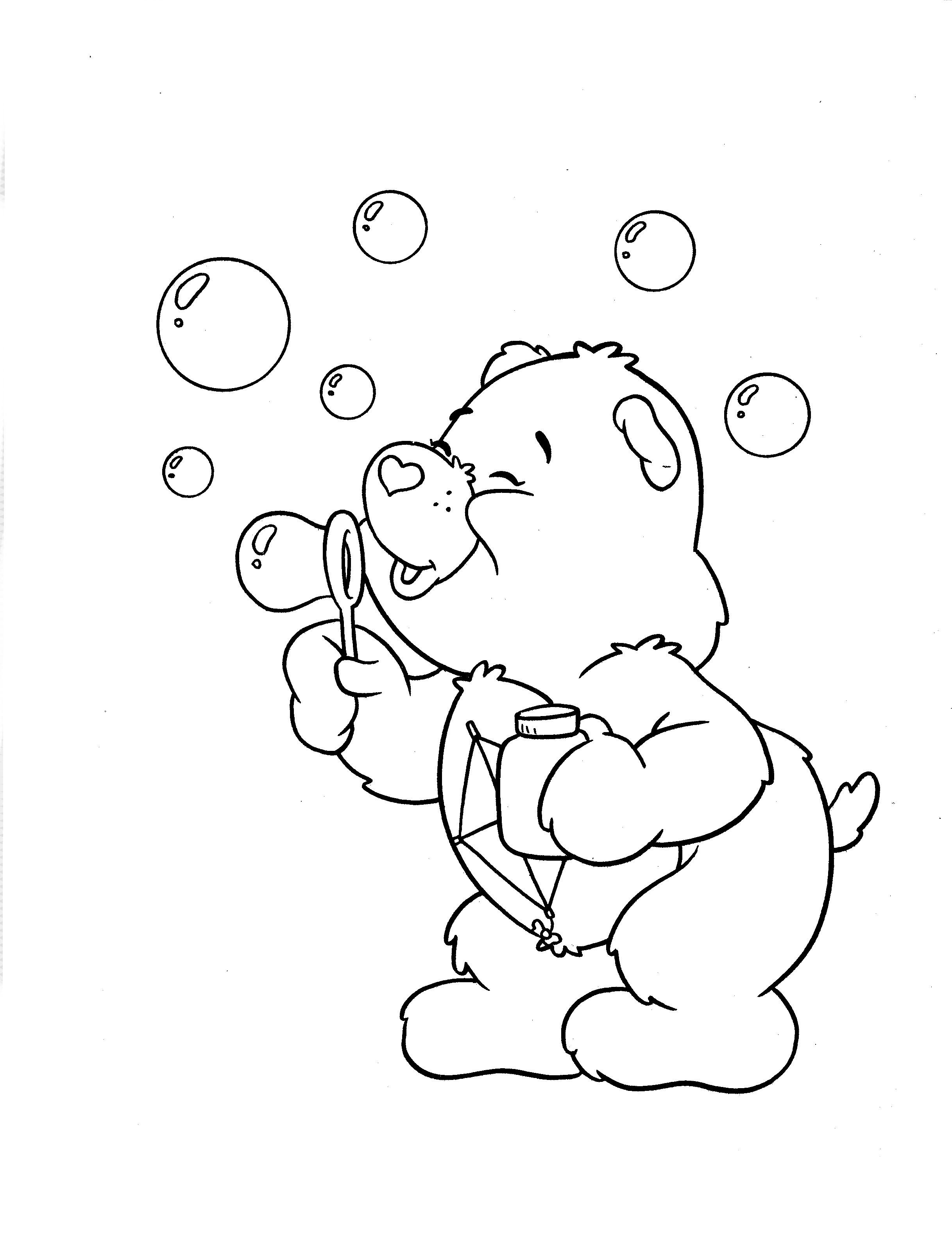 Desenho De Ursinho Perseverança Fazendo Bolhas De Sabão Para