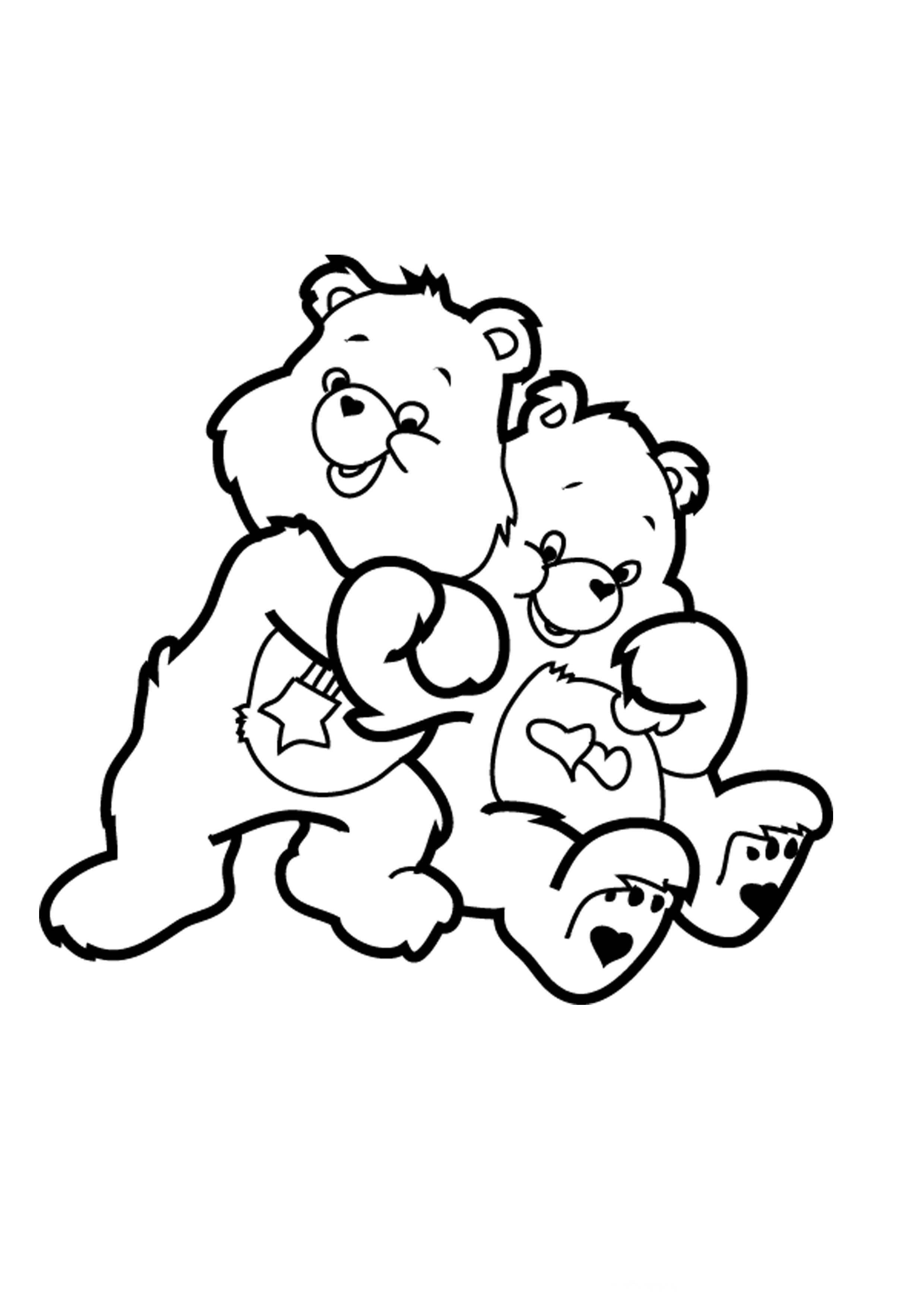 desenho de ursinhos carinhosos se abraçando para colorir tudodesenhos