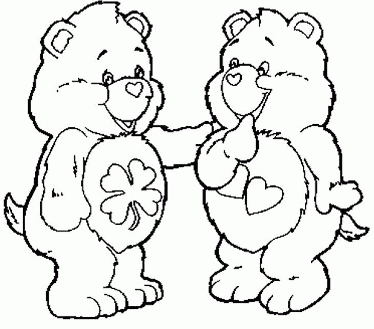 desenho de ursinhos carinhosos sorrindo para colorir tudodesenhos