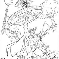 Desenho De O Martelo De Thor Para Colorir Tudodesenhos