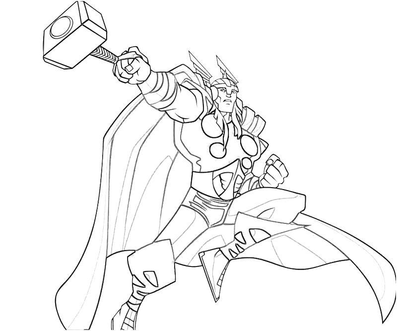 Desenho De Thor Contra Inimigos Para Colorir Tudodesenhos