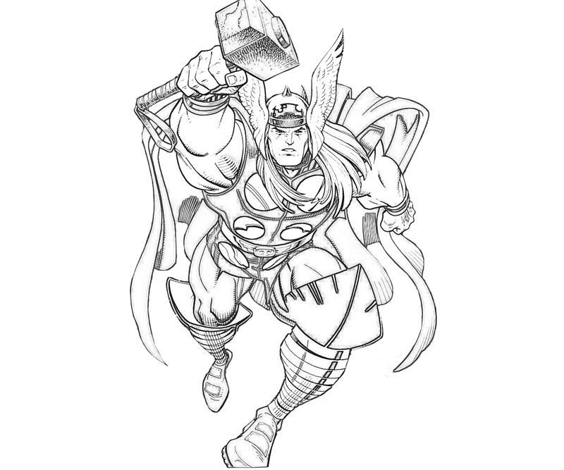 Desenho De O Voo De Thor Para Colorir Tudodesenhos