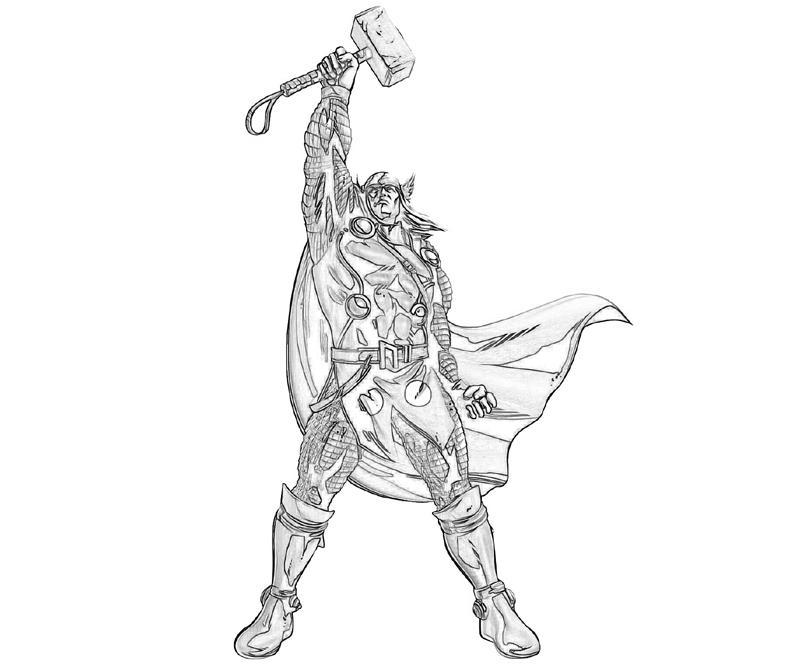 Desenho De Thor E Seus Super Poderes Para Colorir Tudodesenhos