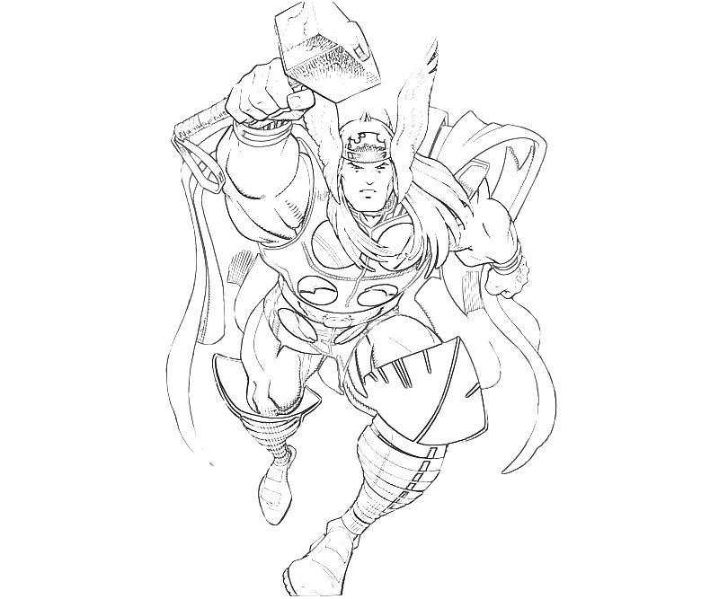 Desenho De Thor De Marvel Para Colorir Tudodesenhos